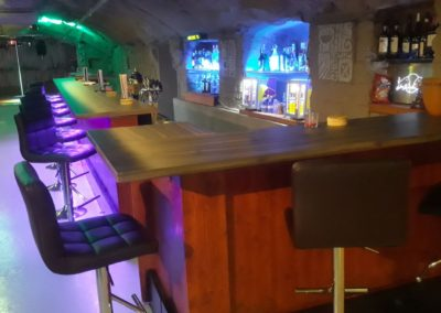 Gay Club Prague Party bar seats 3